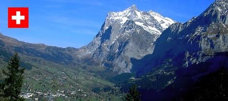 Grindelwald から Schwarzhorn を望む(2003.10 撮影)